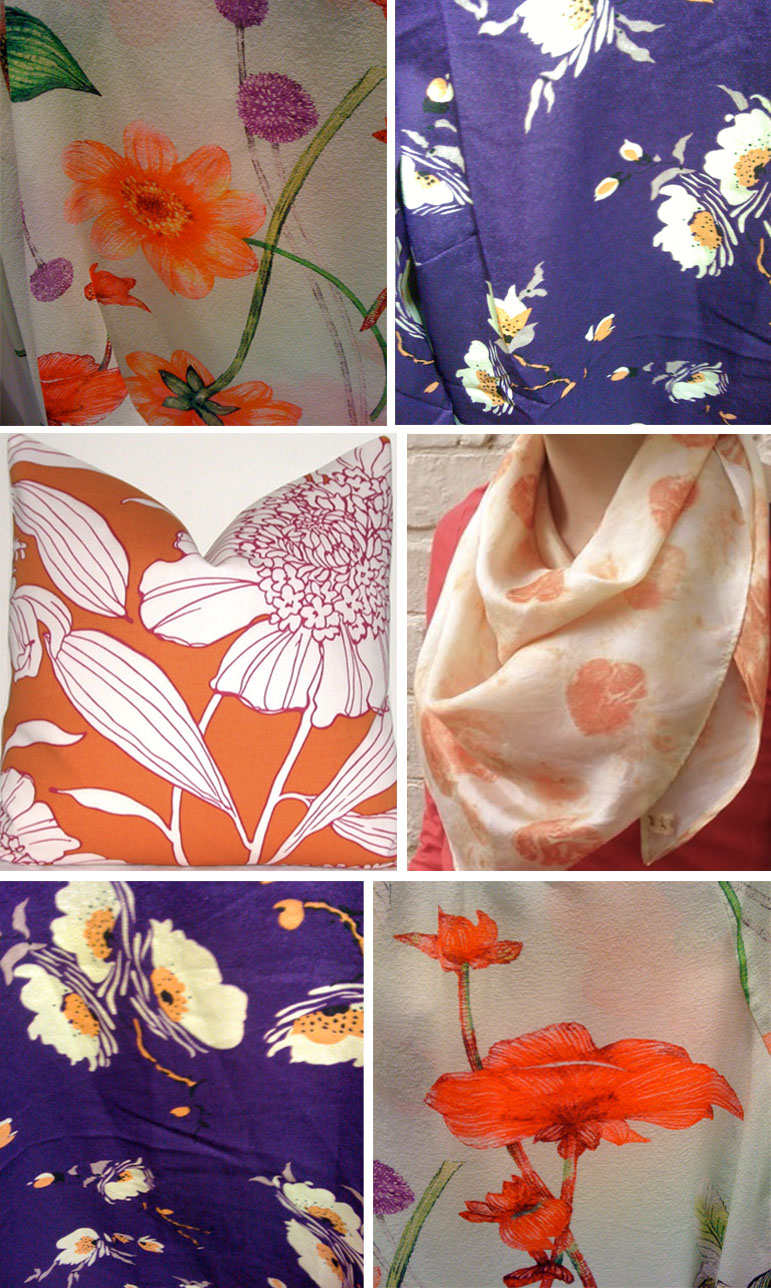 orange and purple spring florals