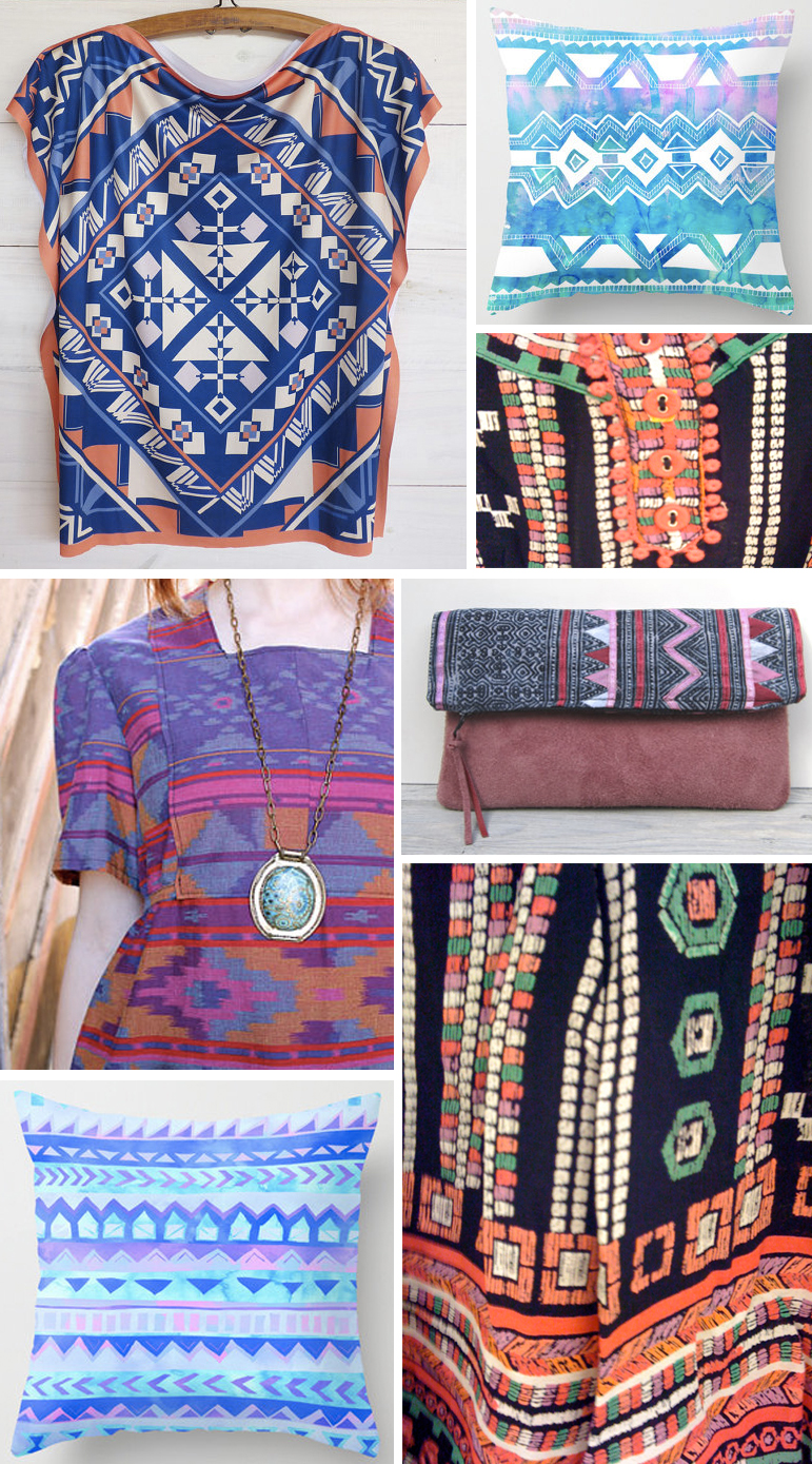 Ethnic boho summer street patterns
