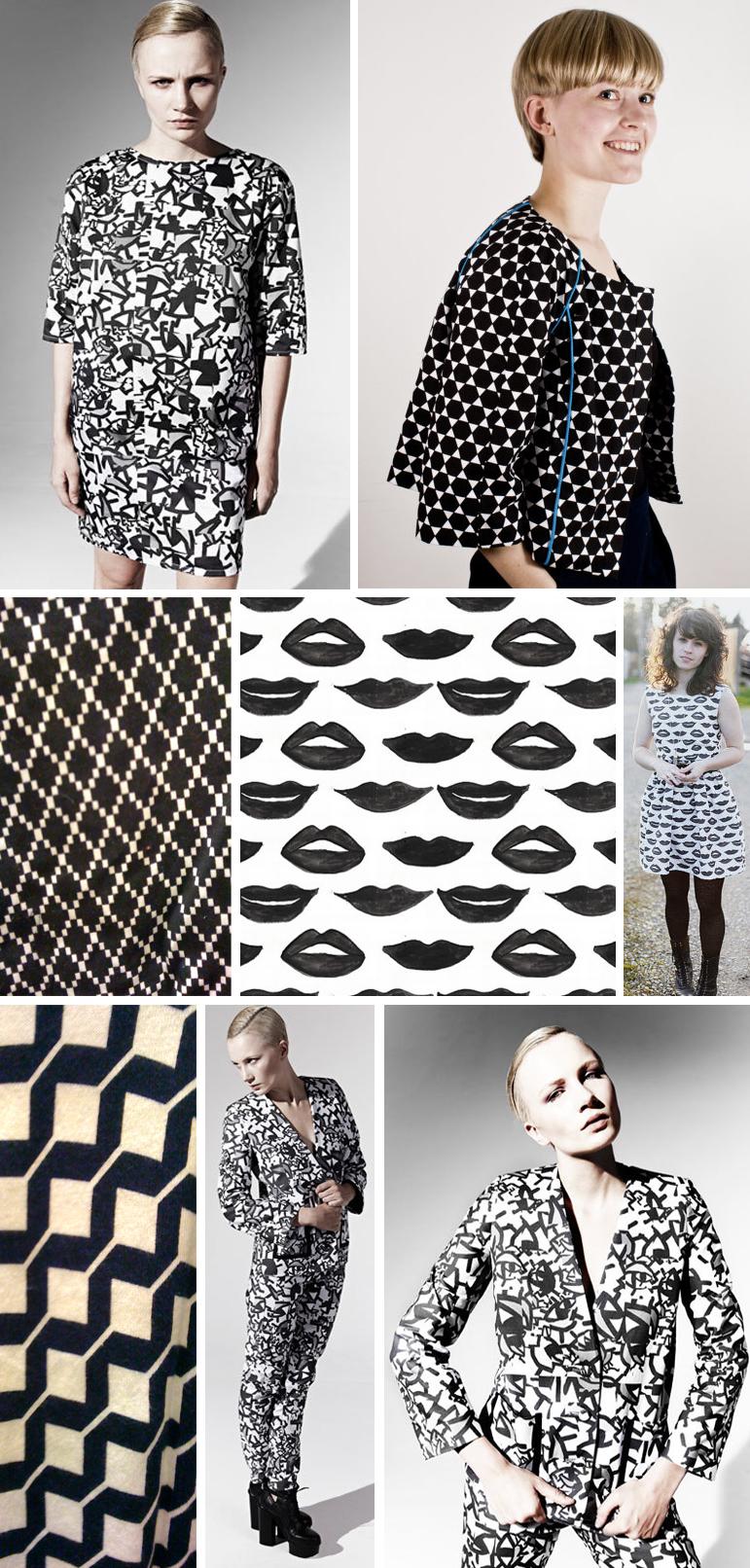 Graphic monochrome street patterns