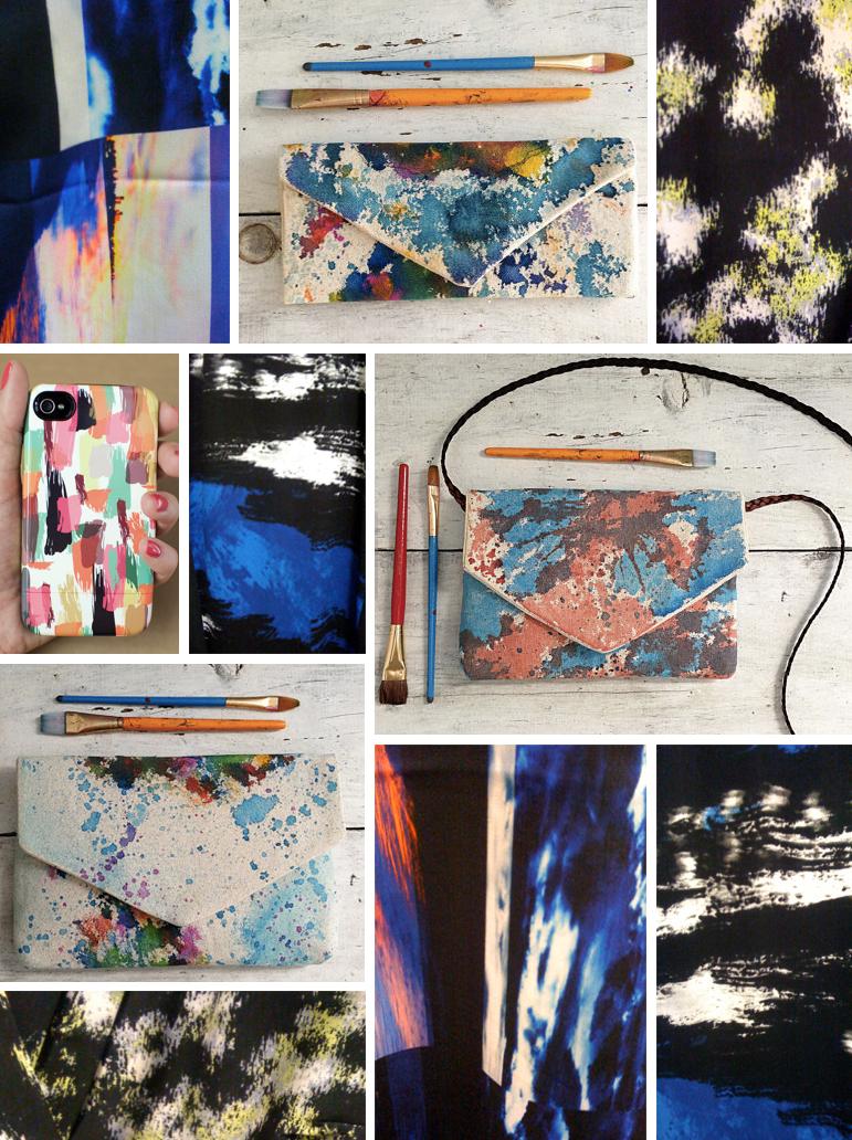 Paint strokes street patterns