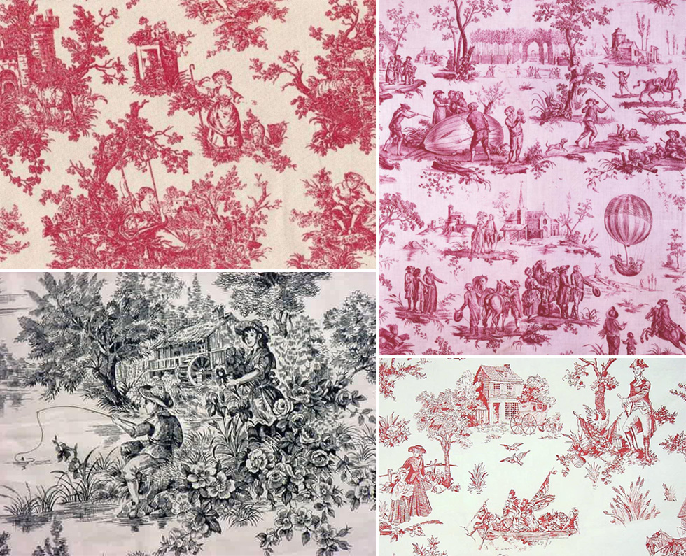 the history of surface design toile de jouy pattern observer. Black Bedroom Furniture Sets. Home Design Ideas