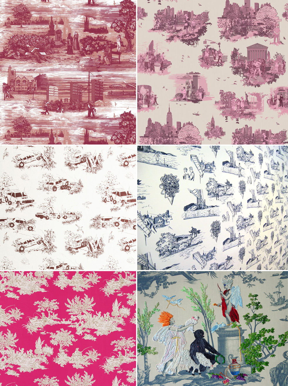 the history of surface design toile de jouy pattern observer. Black Bedroom Furniture Sets. Home Design Ideas