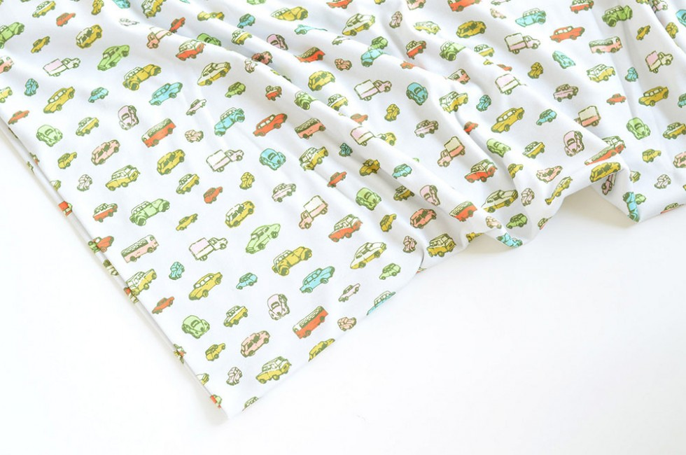 Little Retro Cars Fabric Marie Gardeski