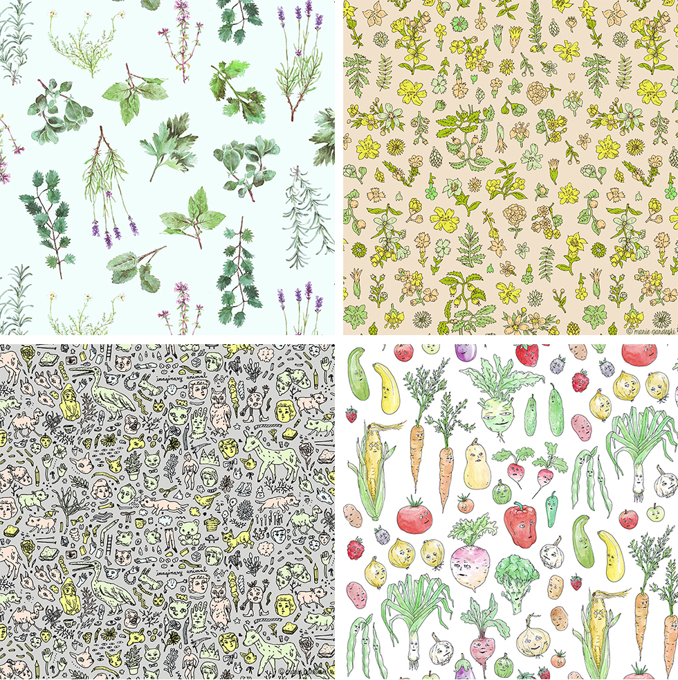 Watercolor Herb Garden Pattern Marie Gardeski (1) copy