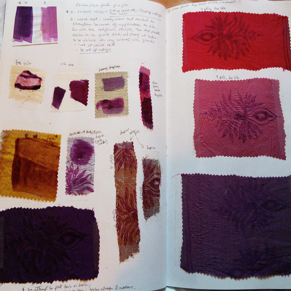 dye and colour development
