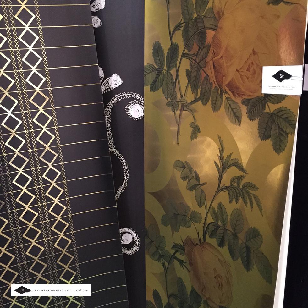 Fritzi & Martha's Yellow Rose on gold mylar SR Collection