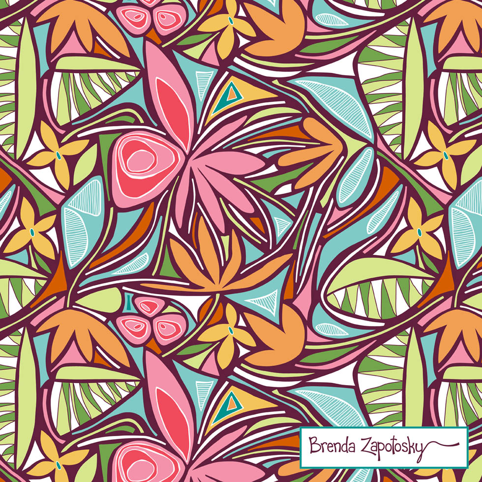 Floral Bliss Tropical by Brenda Zapotosky