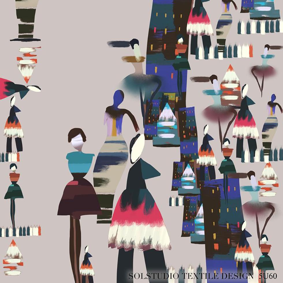 Solstudio Textile Design: Collage