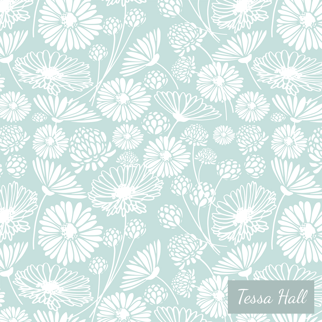 FIELD FLORALS CAMEO BLUE - For Pattern Observer