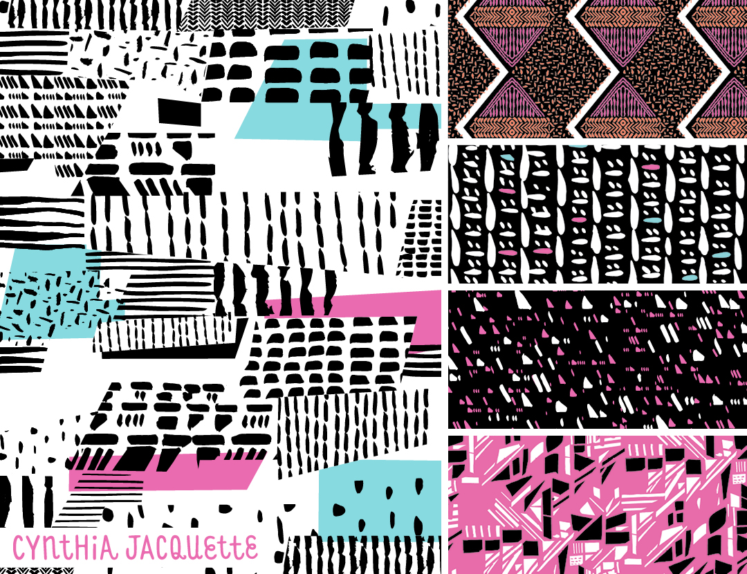 Cynthia Jacquette featured on Pattern Observer https://patternobserver.com/2016/07/15/from-the-textile-design-lab-chelseas-challenge-graphic-statements/