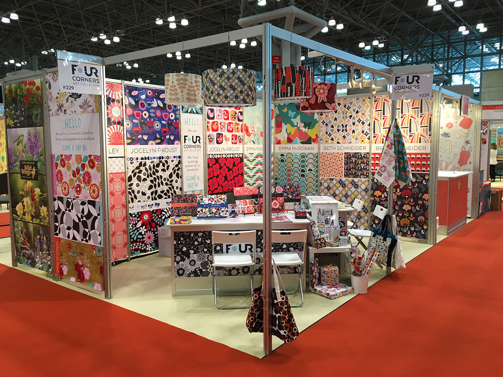 Four Corners Art Collective on the Pattern Observer blog https://patternobserver.com/2016/08/17/tale-three-trade-shows-beyond-four-corners-art-collective/