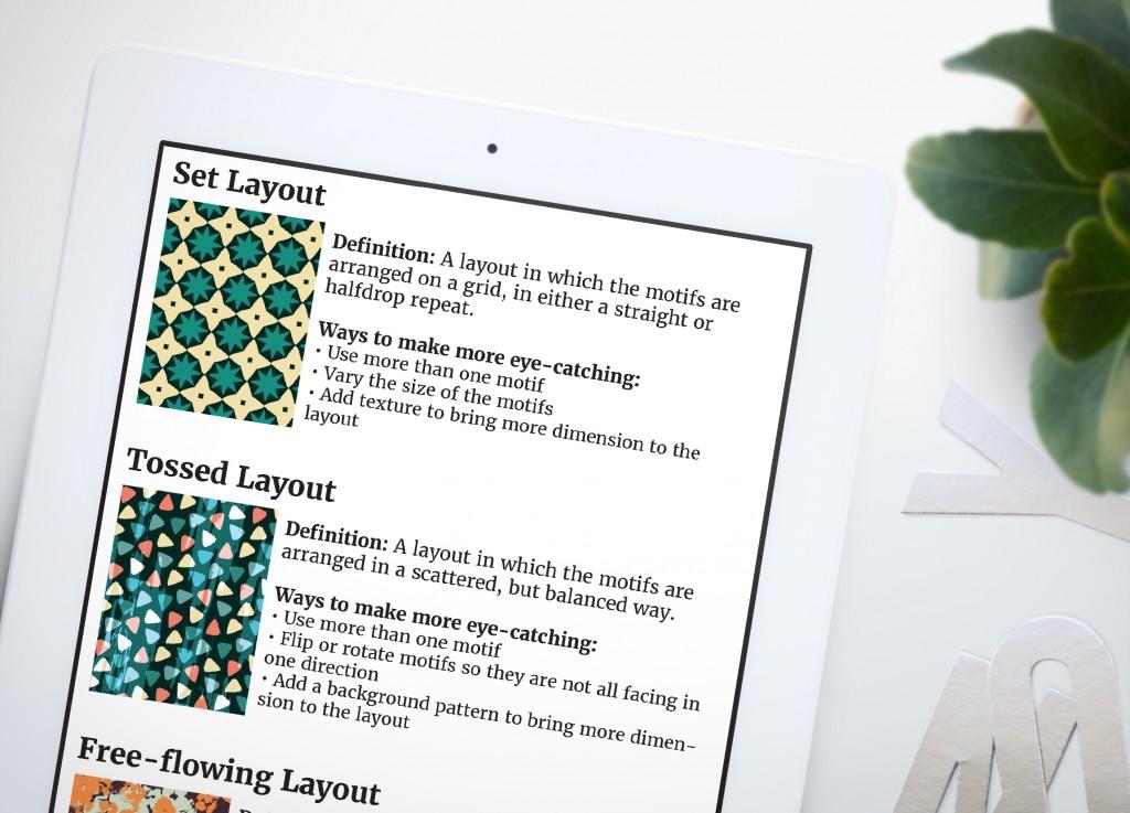 Surface Pattern Design Layout Chart