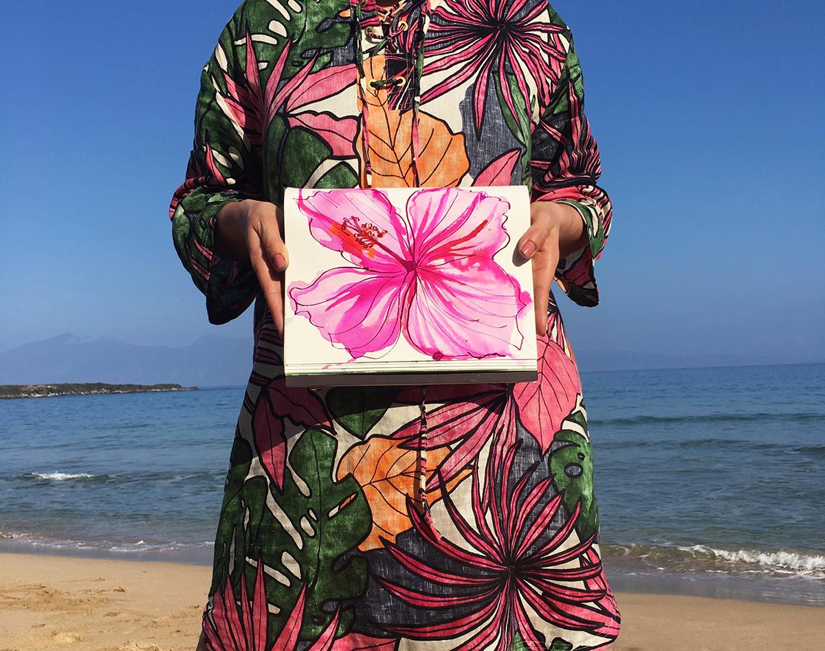 Anne Marie Jackson Textile Design Hawaii Sketchbook copy