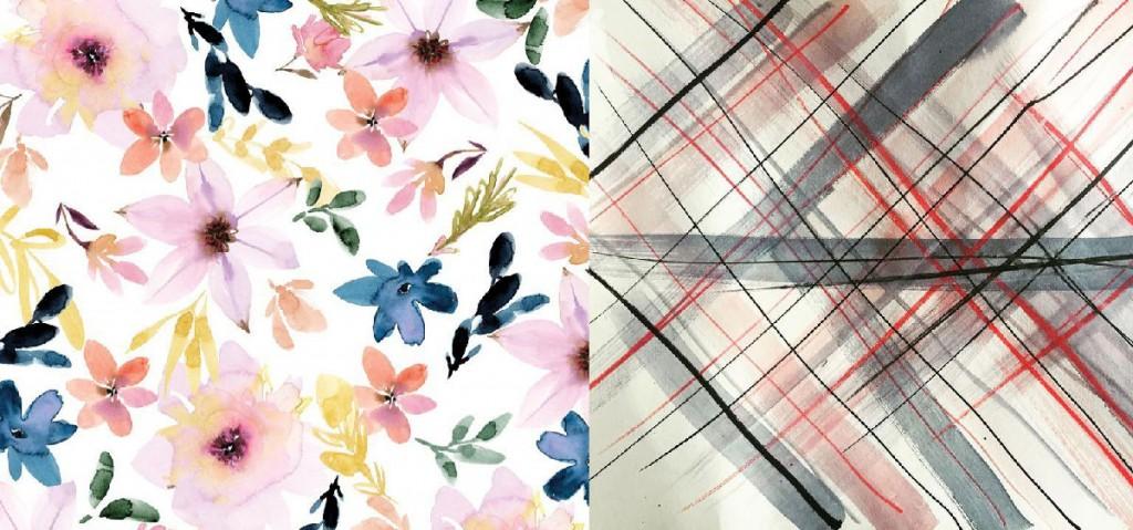 (L) Floral by Stephanie Ryan (R) Stripes by Dagmar Höffken