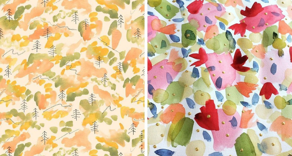 (L) Pattern by Jen Peters (R) Pattern by Studio Josien