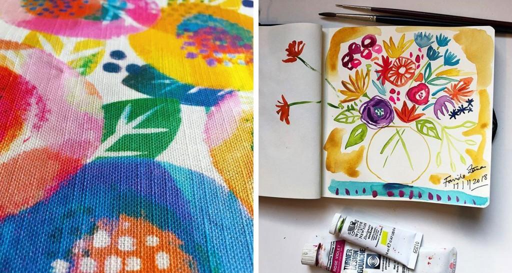 (L) Pattern by Rachel Parker (R) Pattern by Farida Zaman
