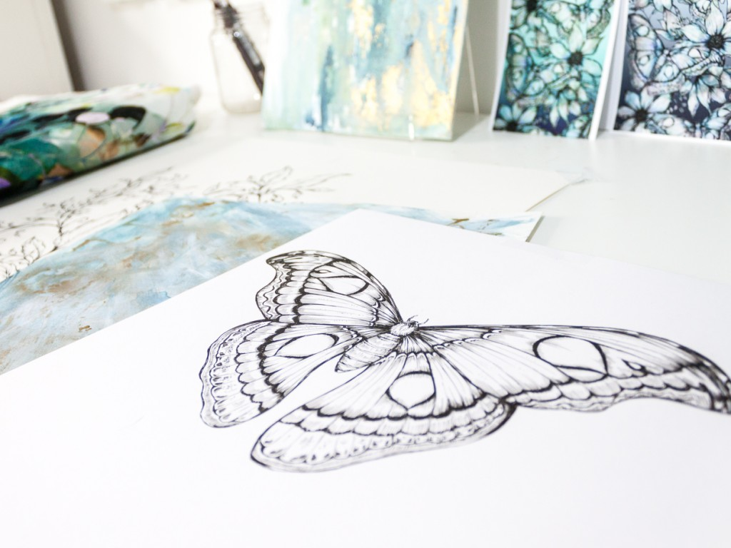 Jessica Wilde-Moth drawing close up-Pattern Observer