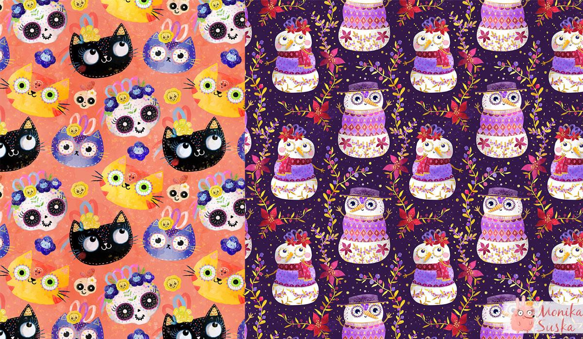 monika-suska-surtex-characters-pattern-observer