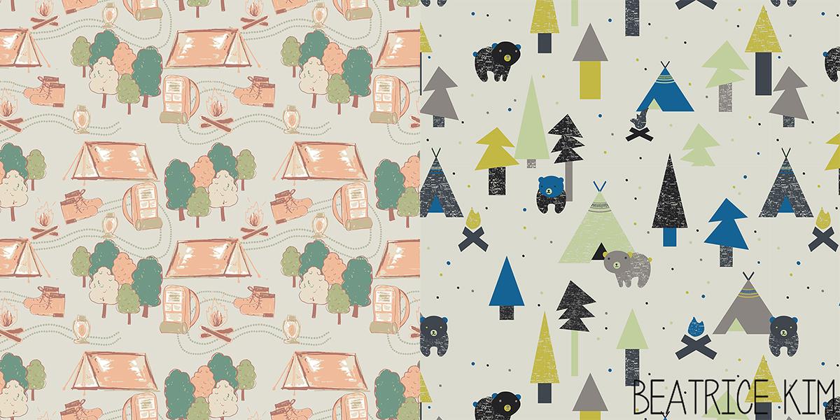 camping pattern