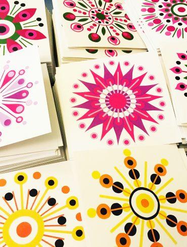 geometric pattern design greeting cards
