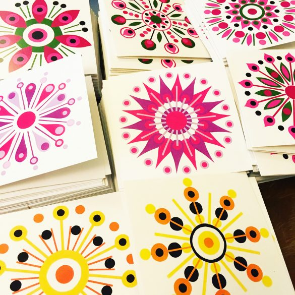 geometric pattern design greeting cards