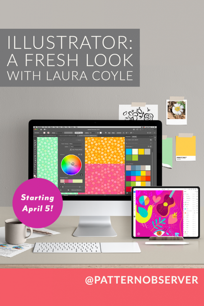Join us for Laura Coyle's new Illustrator course on April 5, 2021.