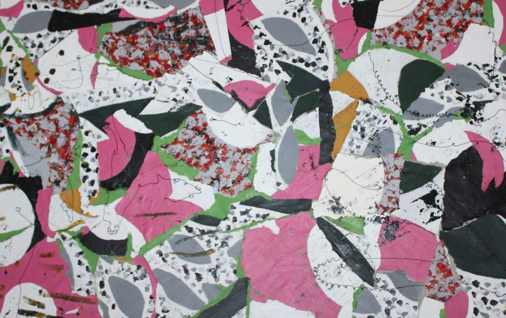 Pink cutout pattern by Maria Mbereshu