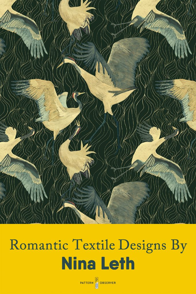 Romantic Textile Designs by Nina Leth. Featured on Pattern Observer